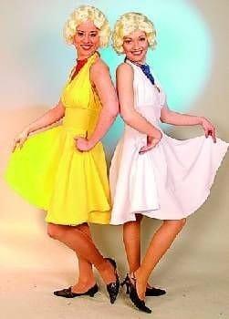 Kleid: Filmstar-Kleid a la Marylin Monroe, weiß, Größen 36 – 54 - 1