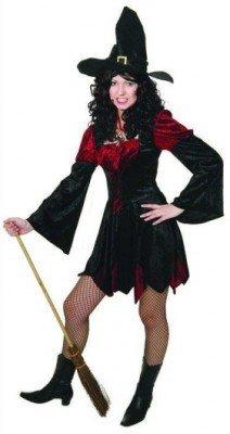 Kleid: Hexe Melissa, weinrot-schwarz - 1