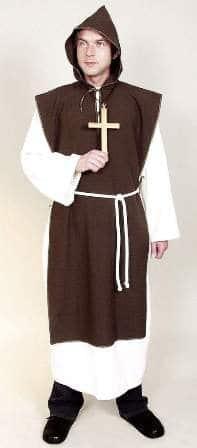 Klosterbruder : Gewand, Überwurf und Kordel - 1