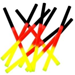 Knicklicht 20cm in den Deutschlandfarben schwarz-rot-gelb - 1
