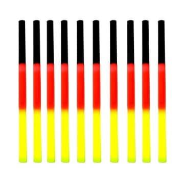 Knicklicht 20cm in den Deutschlandfarben schwarz-rot-gelb - 2