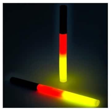Knicklicht 20cm in den Deutschlandfarben schwarz-rot-gelb - 3
