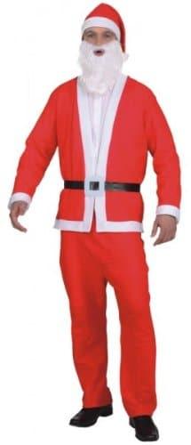 komplettes Weihnachtsmann-Set : Mütze, Bart, Jacke, Hose und Gürtel - 1