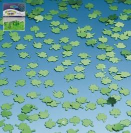 Konfetti: Kleeblatt, grün, 12 mm Durchmesser, 10 g - 1
