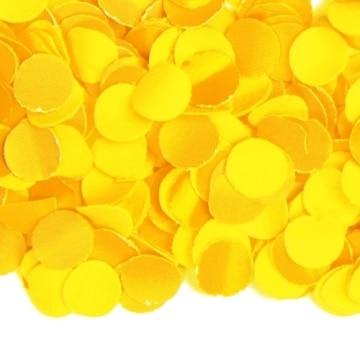 Konfetti: Papier-Konfetti, gelb, schwer entflammbar, 1 kg - 1