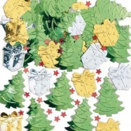 Konfetti: Streu-Deko, Weihnachtsbäume und Geschenke, 14 g - 1