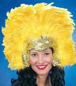 Kopfschmuck: Rio-Kopfschmuck, gelb-gold - 1