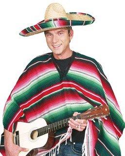 Kostüm: Mexikaner-Poncho, lang - 1