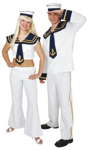 Kostüm: Navy Man/Matrose, Oberteil, Hose, Hut - 1