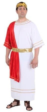 Kostüm: Römer, Gewand/Tunika in Weiß mit rotem Tuch - 1