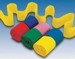 Kreppband, verschiedene Farben, sortiert, 5 cm x 10 m, 6 Rollen - 1