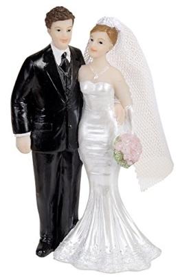 Kuchendeko Brautpaar 110mm, Hochzeitstorte Dekoration - 1