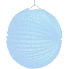 Lampion, 25 cm Durchmesser, pastellblau/türkis - 1