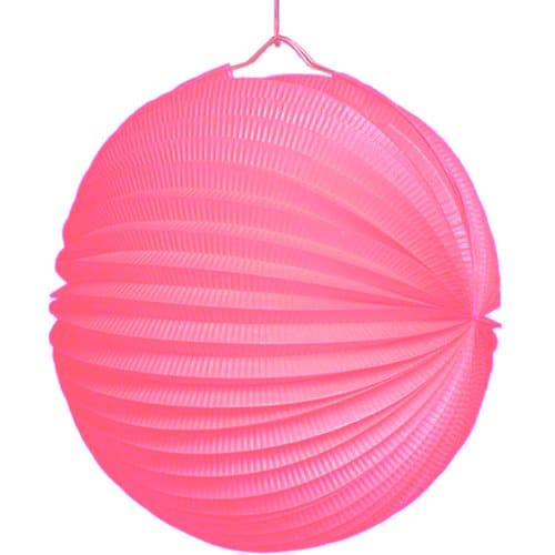 Lampion 25 cm durchmesser pink party deko for Pinke party deko
