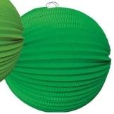 Lampion: 25 cm, grün, mit Kerzenhalter - 1