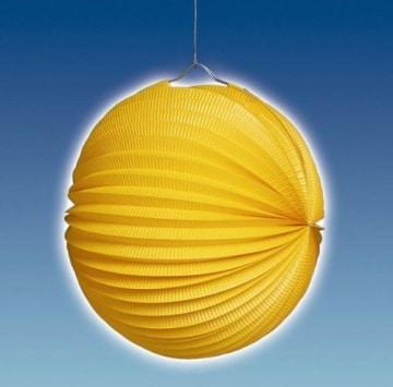 Lampion: 25 cm, orange, mit Kerzenhalter - 1