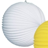 Lampion, 25 cm, weiß, mit Kerzenhalter - 1