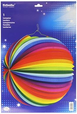 Lampion, 50 cm, Regenbogenfarben - 1