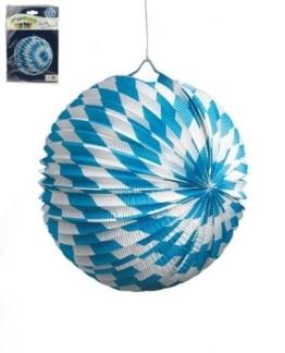 Lampion mit blau-weißen Rauten - 1