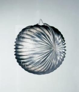 Lampion: silber, 24 cm, sehr dekorativ - 1
