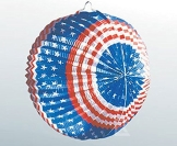 Lampion: USA, Stars and Stripes, 24 cm - 1