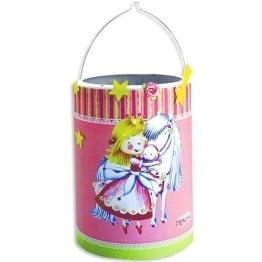Laternen-Bastelset: lustiges Prinzessinnenmotiv, Transparentpapier und Aufkleber, 20 cm - 1