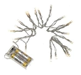 LED-Lichterkette: 190 cm, 20 gelbe Lämpchen, batteriebetrieben - 1
