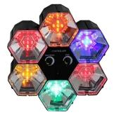 Lichtorgel: Disco-Orgel, 6 Farben, 5 LEDs pro Element, 255 x 255 x 83 mm - 1
