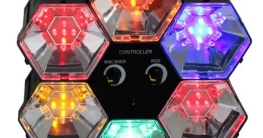 Lichtorgel: Disco-Orgel, 6 Farben, 5 LEDs pro Element, 255 x 255 x 83 mm - 1