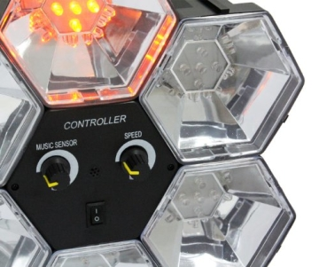 Lichtorgel: Disco-Orgel, 6 Farben, 5 LEDs pro Element, 255 x 255 x 83 mm - 2