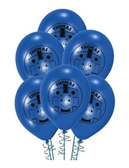 Luftballon: Ballon mit der Lokomotive Thomas, 70 cm Umfang, 6er-Pack - 1