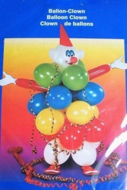 Luftballon-Deko-Set: Clown aus Ballons - 1