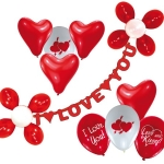 Luftballon-Deko-Set: I Love you - 1