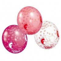 "Luftballon: Dumbo-Ballon, ""It's A Girl"", 5er-Pack - 1"