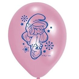 """Luftballon, farblich gemischt/sortiert, Motiv """"Schlumpfine"""", 6 Stück - 1"""