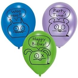"""Luftballon, farblich gemischt/sortiert, Motiv """"Ugly Dolls"""", 6 Stück - 1"""