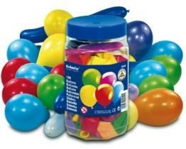 Luftballon: Luftballons in Thekendose, verschiedene Farben und Größen, 100 Stück - 1