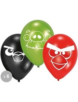 """Luftballon: Luftballons, Motiv """"Angry Birds"""", verschiedene Farben, 70 cm Umfang, 6 Stück - 1"""