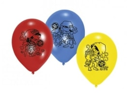"""Luftballon: Luftballons, Motiv """"Kleiner Pirat"""", verschiedene Farben, 6 Stück - 1"""