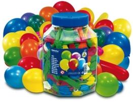 Luftballon-Mega-Pack: Luftballons in Thekendose, verschiedene Farben und Größen, 500 Stück - 1