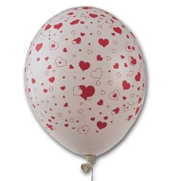 luftballons 50 st ck mit herzen bedruckt heliumgeeignet party deko. Black Bedroom Furniture Sets. Home Design Ideas