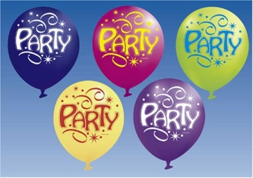 Luftballons BALLON PARTY, 6er-Pack, Luftballon Ballons Deko - 1