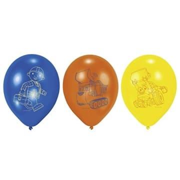 Luftballons, Bob der Baumeister, verschiedene Farben, 6er-Pack - 1