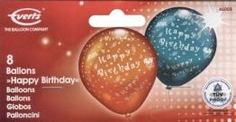 Luftballons: Geburtstagsballons, speziell bedruckt, 8 Stück - 1