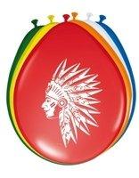 Luftballons, Indianer-Motiv, 8er-Pack - 1
