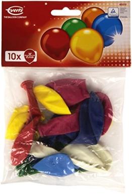 Luftballons: Partyluftballons, 10 Stück, bunt gemischt, 65 – 75 cm - 1