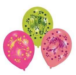 Luftballons PFERDE, 6er-Pack, Pferdemotiv Party - 1