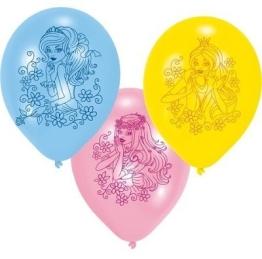 Luftballons, Prinzessin, verschiedene Farben, 6er-Pack - 1