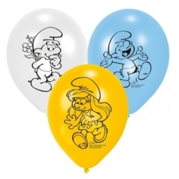 Luftballons, Schlümpfe, verschiedene Farben, 6er-Pack - 1
