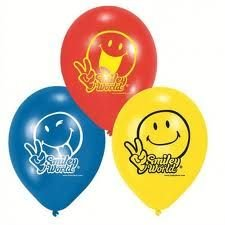 Luftballons SMILEY, 6er-Pack Dekoration Smileys - 1